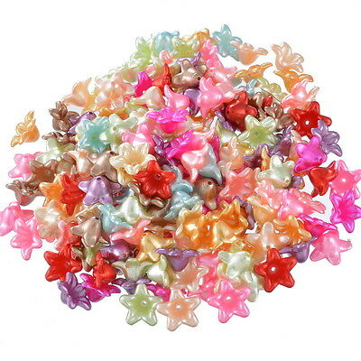 "200PCs Mixed Flower Acrylic Spacer Beads Jewelry Making 13x12mm(4/8""x4/8"") HOT"