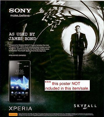 High Quality Dummy Sony Xperia TX display toy, **as use d by James Bond SKYFALL