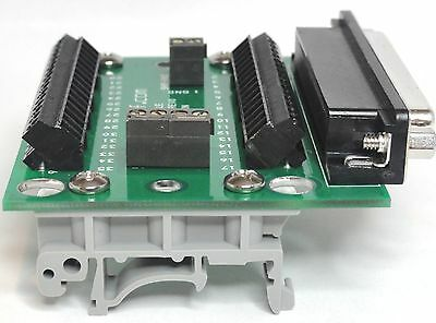 DB37 Rt Angle MINI Fem Screw Breakout w/ Din Rail Mount for National Instruments