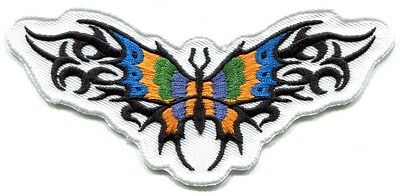 BUTTERFLY tribal design EMBROIDERED IRON-ON PATCH *Free Shipping* p3708 colorful