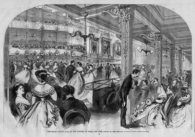 Academy Of Music 1866, New York, The Grand Charity Ball For Childrens Hospital