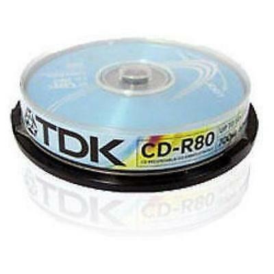 TDK CD-R80 700MB 52x Recordable Discs 10 Pack Spindle