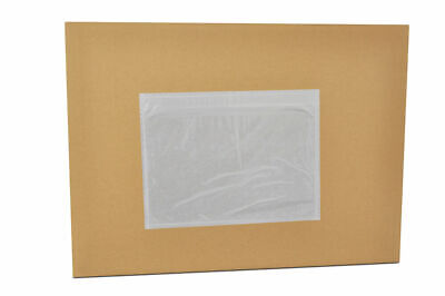 "5000 7 1/2 x 5 1/2 Clear Packing List Envelopes Stickers 7.5"" x 5.5"""