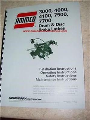 Ammco Brake Lathe Manual 3000 4000 4100 7500 7700