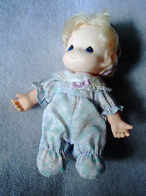 precious moments baby doll girl dressed in P J's 1992 Rose Art