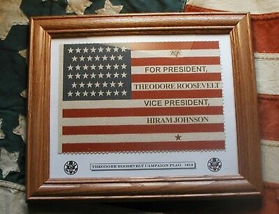 46 star Theodore Teddy TR Roosevelt Campaign Flag