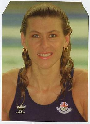 Scarce Trade Card of Sharron Davies, Swimming 1997