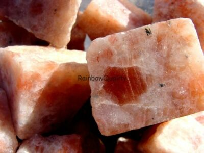 SUNSTONE - 1 Lb Lot -  Natural Gemstone Rough Rock - VERY LOW PRICE - Very Nice