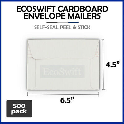 500 - 6.5 x 4.5 SELF SEAL RIGID PHOTO SHIPPING FLATS CARDBOARD ENVELOPE MAILERS