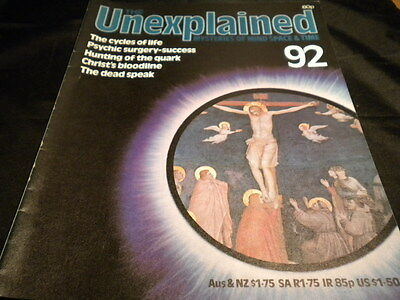 The Unexplained Orbis Issue 92 - the cycles of life - psychic surgery success