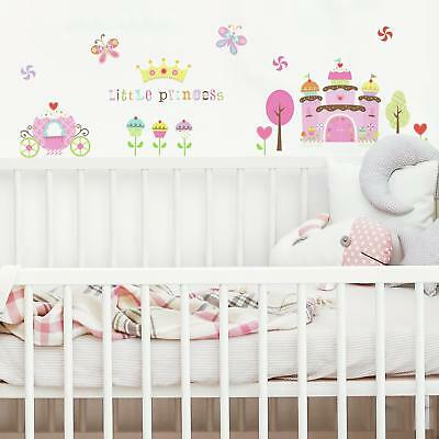 New HAPPI CUPCAKE LAND WALL STICKERS Girls Room Baby Nursery Cupcakes Decals