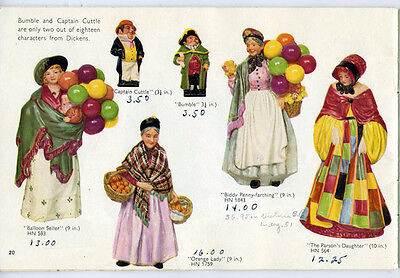 Wonderful Old Royal Doulton Figurine Trade Catalog in Color