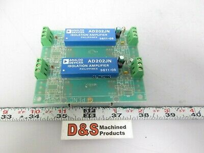 Lot of 2 Analog Devices AD202JN Isolation Amplifier Soldered to PCB DIN-Mount