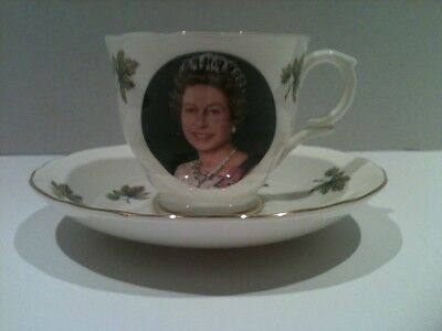 Queen Elizabeth Opening the 11th Commonwealth Games Commemorative Cup and Saucer