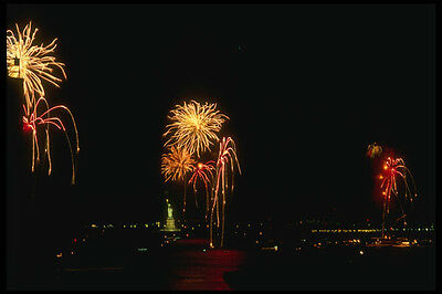 287017 Fourth Of July Fireworks And Statue Of Liberty New York A4 Photo Print
