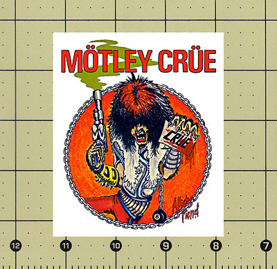 "CUSTOM MADE COLLECTIBLE MOTLEY CRUE ALLISTER FIEND MAGNET 3⅜""x4"""