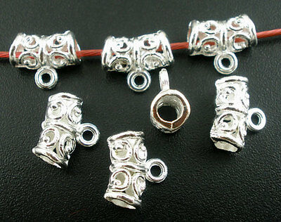 20 Delicate Ornate Silver Plated Pendant Bails Jewellery Findings J03077*20