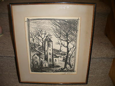 Listed French Leon Schwartz Abrys  1905 1995  France hand signed in pencil
