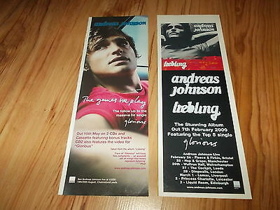 ANDREAS JOHNSON-Lot of 2 vintage adverts