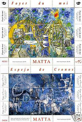 Chile 2008 4 Sheetlets Roberto Matta 36 stamps MUST SEE