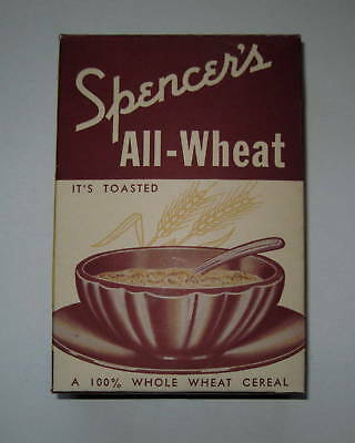Spencer's All-Wheat Old Store Cereal Box - Burns TN