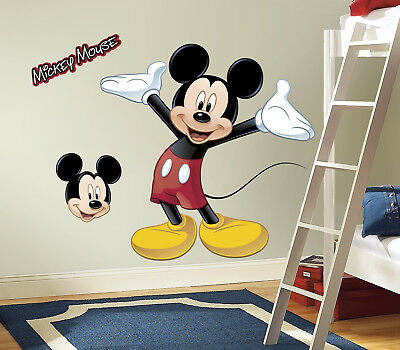 New Giant MICKEY MOUSE WALL DECAL Disney Bedroom Stickers Kids Room Decals Decor