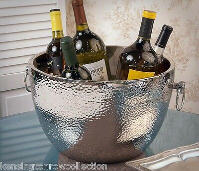 "Wine Cooler - ""knightsbridge"" Hammered Aluminum Wine Cooler"