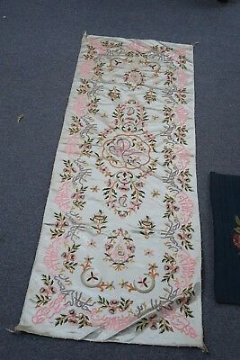 "Antique Islamic Ottoman Textile Calligraphy Verse Hand Embroidery Silk 21""x58"""