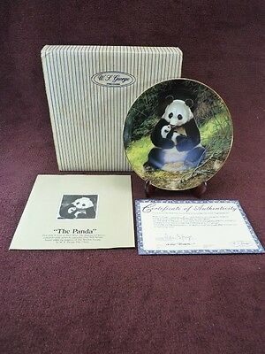 W.S. George Collectors Plate Will Nelson The Panda (447)