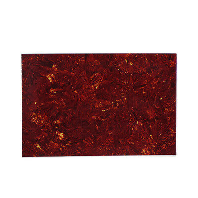 One 4Ply Red Tortoise Shell Guitar Bass Pickguard Material Blank Sheet 29x43cm