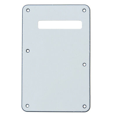 Guitar Trem Cover Back Plate Tremolo Cavity Cover For Fender Strat 3 Ply White