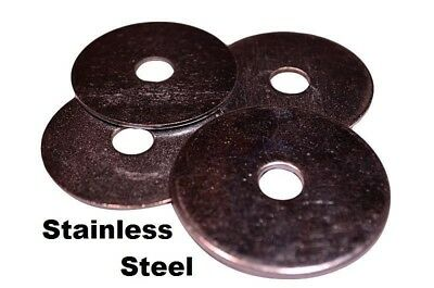 "Stainless Steel Fender Washers  1/4"" x 1"" (100 pcs)"