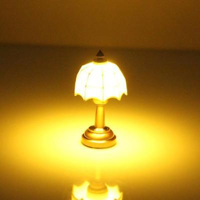 1/12 Working LED Light Lighting Lamp w/ Button Battery Doll House Miniature Part