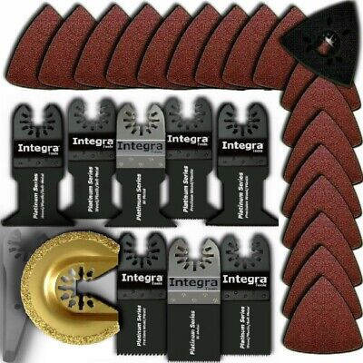 PC18; 29 PC Oscillating Multi Tool Scraper Sanding Saw Blades fits Porter Cable