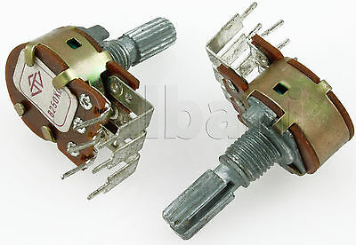 250K Dual Unit P.C.B. Terminal Potentiometer 08-1360