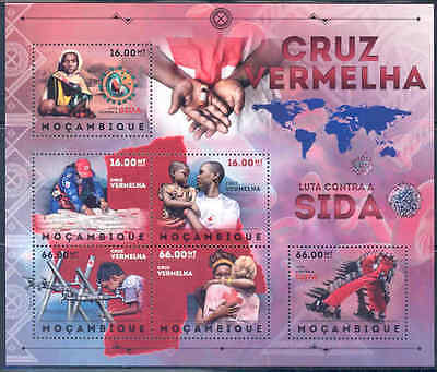 Mozambique 2012 Red Cross Fight Against Aids Sheet Of 6