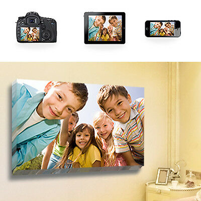 """Your Photo Picture on Canvas Print 30"""" x 20"""" A1 Box Framed Ready To Hang"""