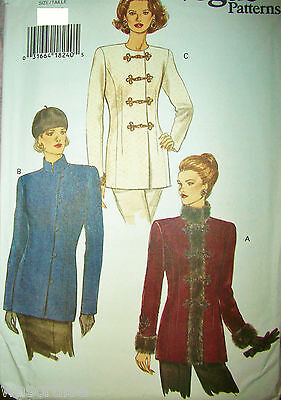 Miss MP Vogue 8861 UNCUT Sewing Pattern Jackets Easy Size 8-10-12 OOP 1993