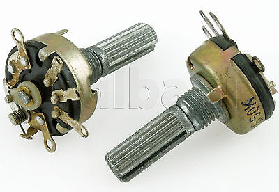 50K 17mm Potentiometer Single Unit w/Switch and Tap 08-1855