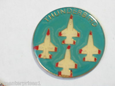 Thunderbirds Airplanes Medallion Vintage Pin