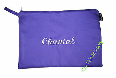 Personalised Large1 Drill pencil case 31cm by 17cm pouch bag COLOUR CHOICE