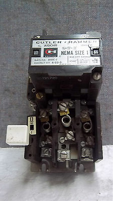 Cutler Hammer Magnetic Starter A10Cn0 Ser. A1 Size 1 Used A10Cn0