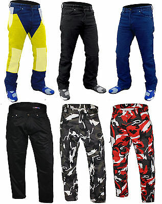 New Men's Motorcycle Motorbike Jeans Denim Reinforced with Protective Lining
