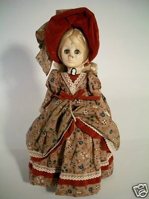 """Vintage 1975 Effanbee Currier & Ives Vinyl Doll 12"""" Tall A Life in the Country"""