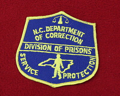 17134- Patch North Carolina Department of Correction Police Dept Sheriff Law
