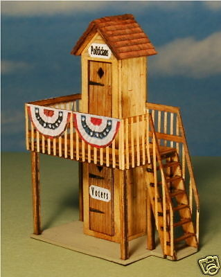 GC Laser Building Kit G Scale 2 Story Out House #4282 Bob The Train Guy