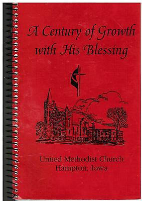*HAMPTON IA 1995 METHODIST CHURCH COOK BOOK *CENTURY OF GROWTH WITH HIS BLESSING