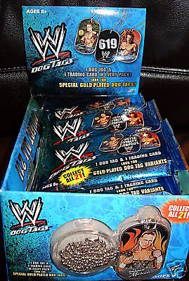 WWE Dog Tags/Topps/1 Display (24 Tüten) /OVP