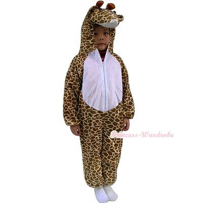 New Giraffe Animals Halloween Party Costume Cosplay Kids Size One Piece