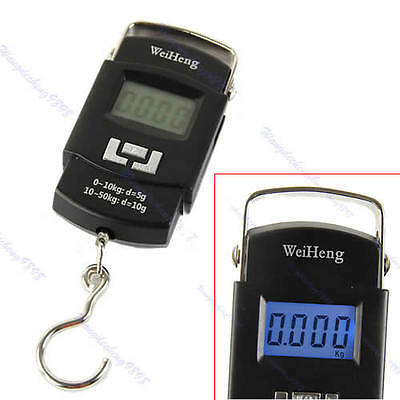 Portable Travel Luggage Scale 50kgx 5g/10g Digital Hanging Scale 110lbs x 0.02lb